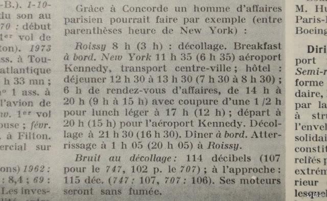 Extrait du Quid 1976 : article sur le Concorde