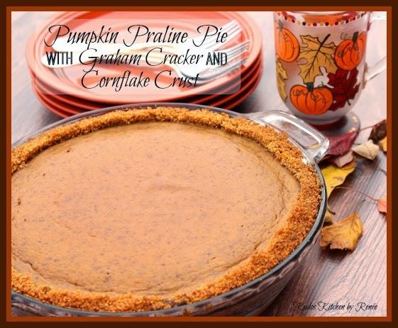 Pumpkin Praline Pie with Graham and Cornflake Crust / www.kudoskitchenbyrenee.com