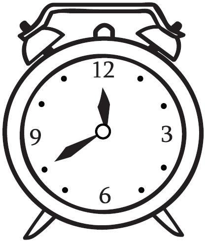 Reloj despertador para colorear y pintar - Dibujo Views