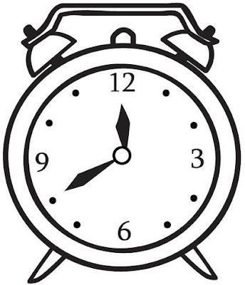 Reloj Despertador Para Colorear Y Pintar 4 Dibujo