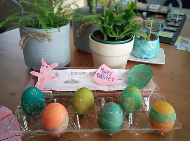 brown organic easter eggs makes warn colors