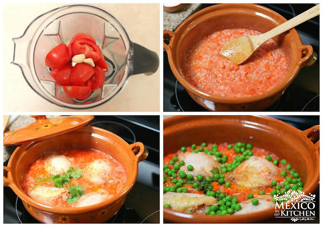 Arroz con pollo - rice with chicken easy step by step tutorial.