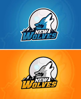 Logo for the NEW WOLVES gaming(MYeSportdesign)