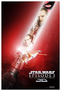 SW La amenaza fantasma 3D poster 1