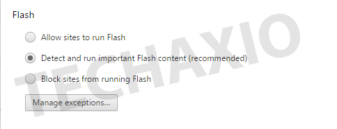 Flash Section