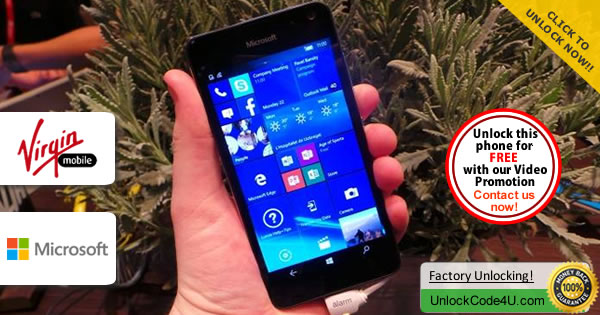 Factory Unlock Code Microsoft Lumia 650 from Virgin Australia