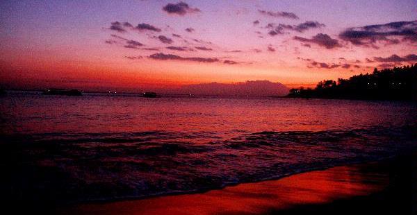Elisabeth Dianing Pramesti Pemandangan Senja Di Pantai