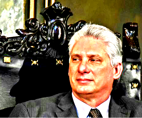Miguel Diaz-Canel listens to a speech by Ecuador's President Rafael Correa at Havana University, in Havana, Cuba, on May 5, 2017. The 57-year-old was expected to be named president of Cuba during a meeting of the National Assembly on April 19, 2018.