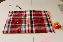 Happy Home Flannel Shirt Pillow Cover - Tutorial