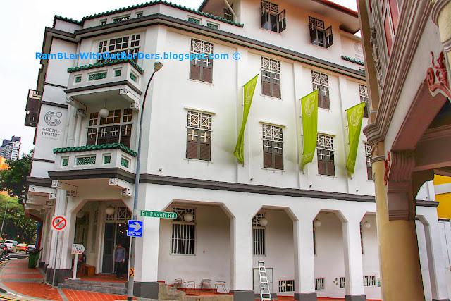 Goethe Institute, Shophouses with balconies, Bukit Pasoh St, Singapore