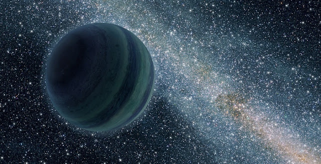 An artist's conception of a free-floating planet analog courtesy of NASA/JPL.