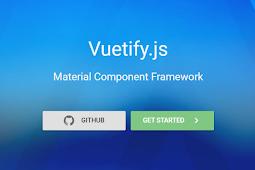 Vuetifyjs frontend framework yang keren untuk para programmer membangun website