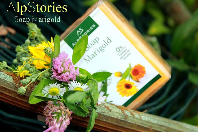 Отзыв: Кусковое мыло с цветками календулы AlpStories Soap Marigold.