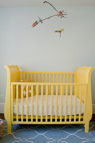 Pottery Barn Baby Chair Big Joe Bean Bag Filler Custom Nursery Art By Kimberly: Real Life Room: Yellow And Blue Eclectic