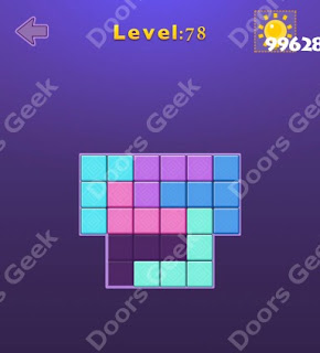 Cheats, Solutions, Walkthrough for Move Blocks Easy Level 78