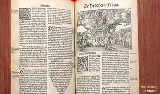 Biblia de Martín Lutero del año 1634
