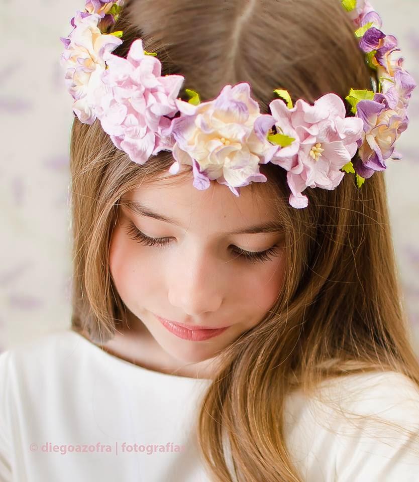 Tocados cocon coronas de flores para el pelo - Diademas de flores para nina ...
