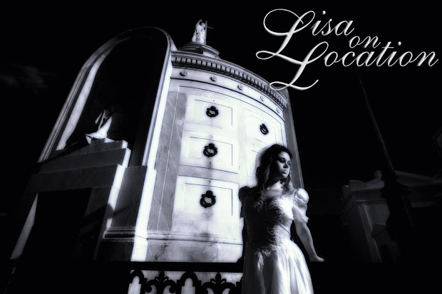 Infrared trash the dress bridal photo shoot in Saint Louis Cemetery, New Orleans, Louisiana, by Lisa On Location photography