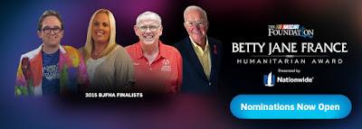 #NASCAR Foundation's 2016 Betty Jane France Humanitarian Award Nominations Open