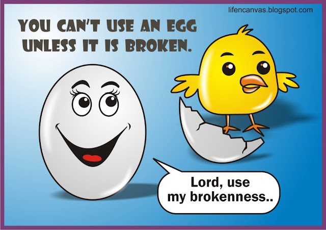 can't use an egg unless it is broken