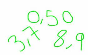 Idag repeterade vi decimaltal. Dels hur de är uppbyggda men också hur vi  arbetar med uppställning av decimaltal när vi ska räkna addition och  subtraktion. b885ef54915cb