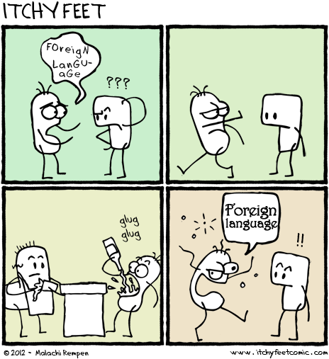 Itchy Feet: A Travel and Language Comic by Malachi Ray Rempen