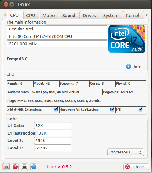 I-Nex: Tool To List Hardware Information In Linux, Similar To