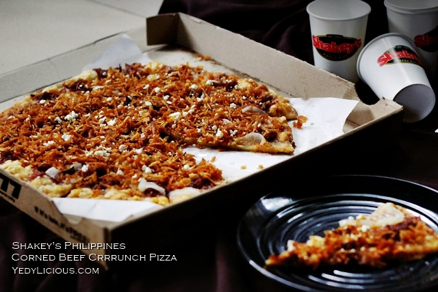 Shakey's PH Corned Beef Crunch Pizza Blog Review, New Menu, Shakey's Supercard Benefits, Delivery, Website, Facebook, Instagram, Twitter