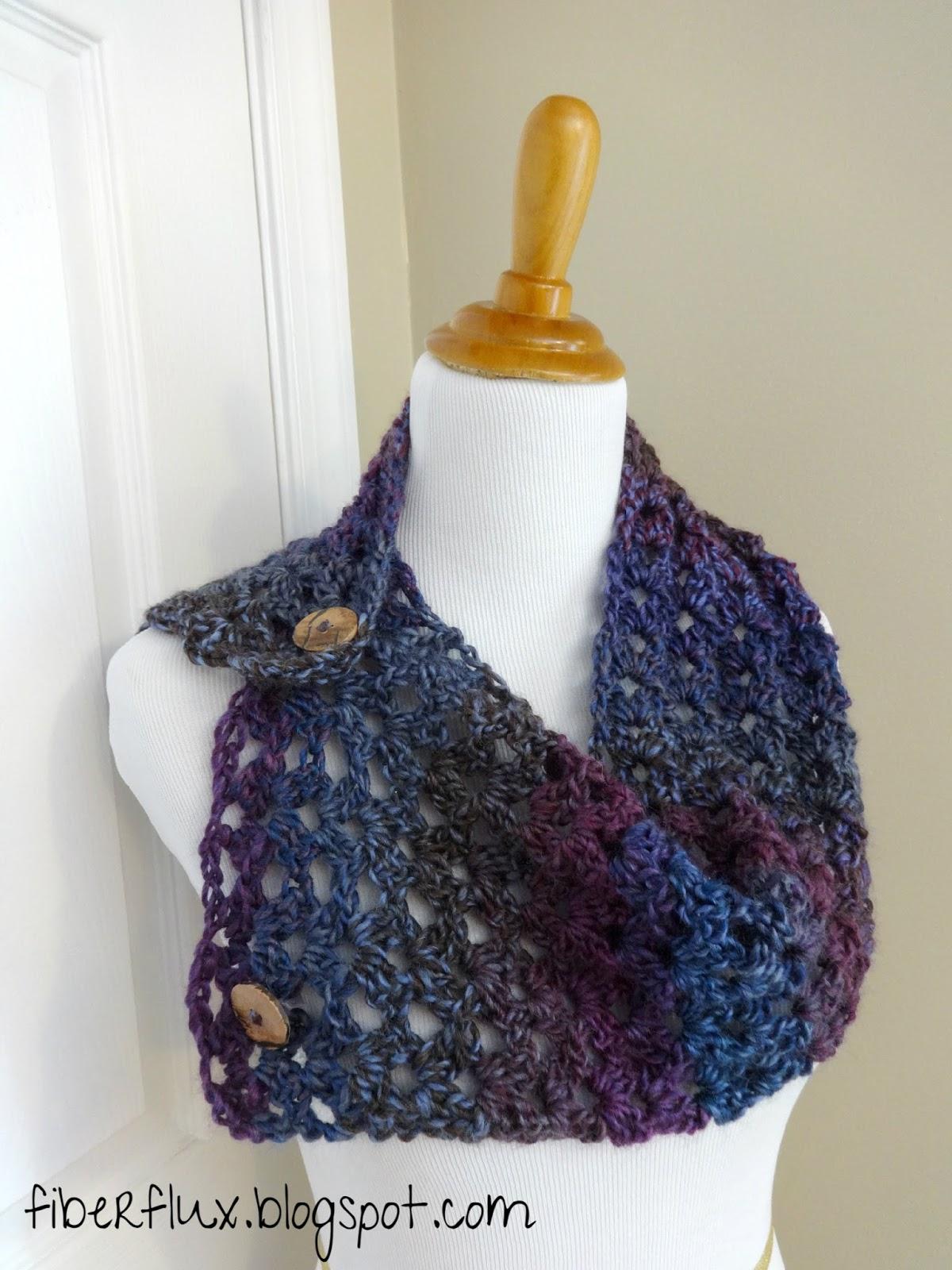 Fiber Flux: Free Crochet Pattern...Estelle Button Cowl!