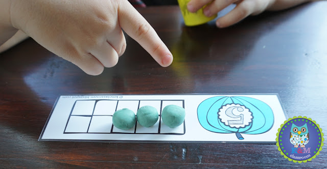 Halloween Play Dough Math Ten Frame Counting to 10