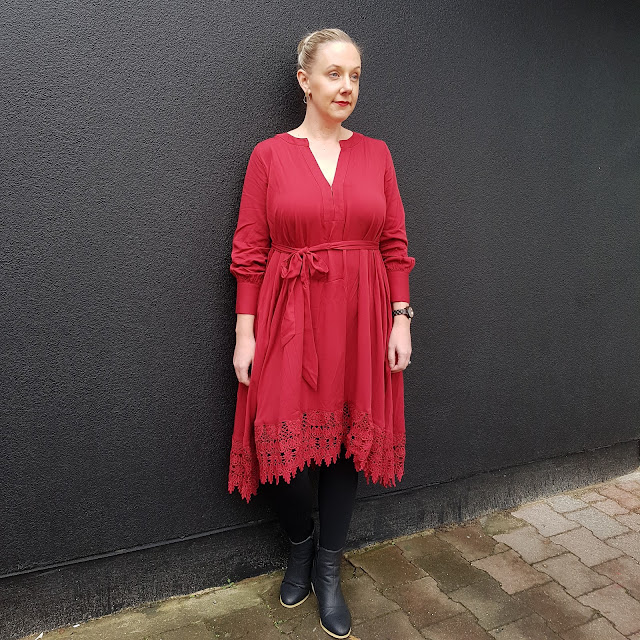 Bohemian Traders Winter Dreamer dress in wine | Almost Posh