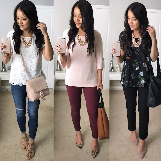 Blush Necklace Outfits