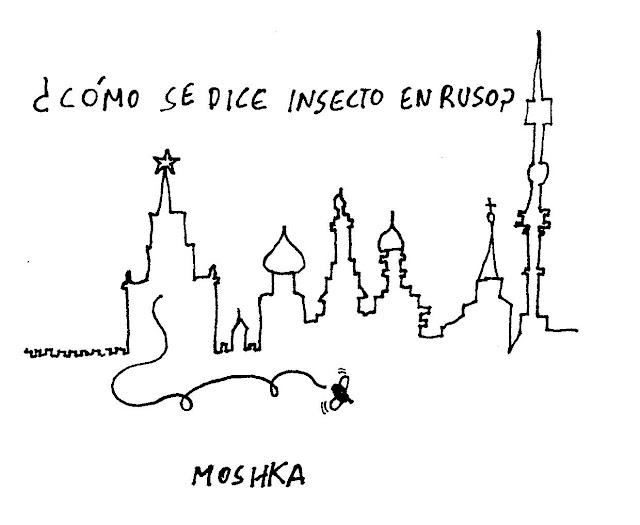 ¿Cómo se dice insecto en ruso? Moshka