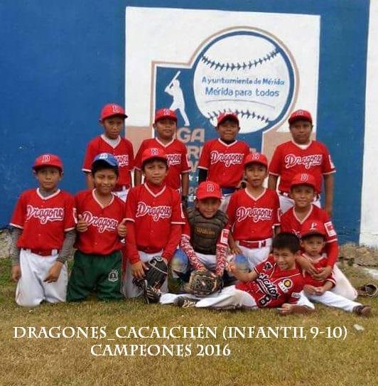 campeón de la liga merida de beísbol 2016 infantil