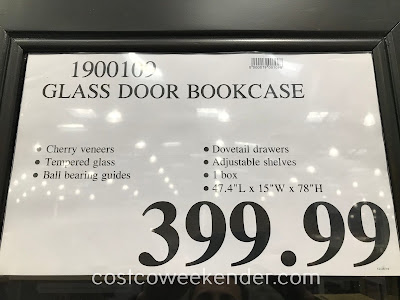 Deal for the Glass Door Bookcase at Costco