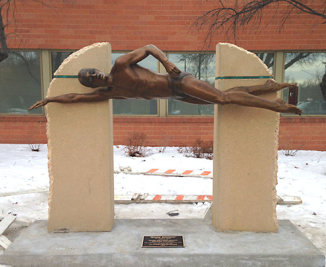 Master Swimmer bronze statue
