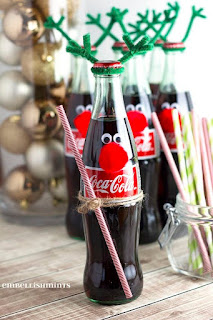 renna con bottiglia coca cola