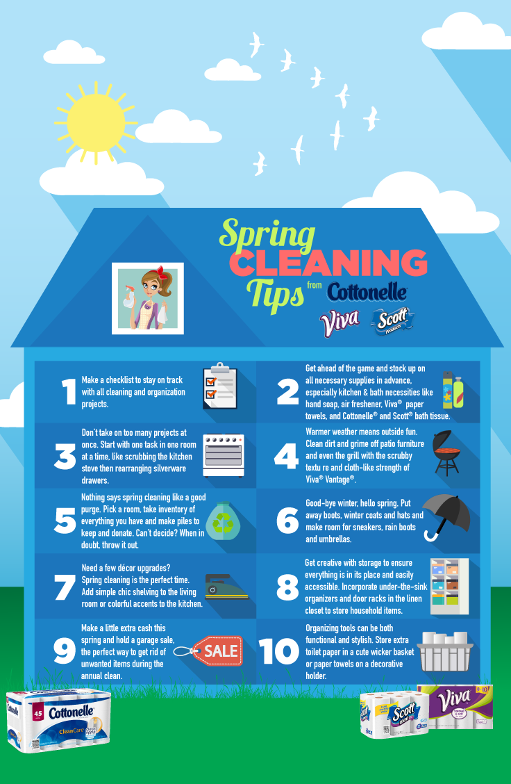 Spring Cleaning Survival Guide - The Chirping Moms