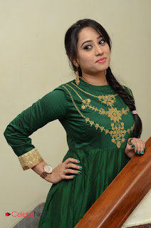 Actress Ashvini Pictures in Green Salwar Kameez Madha Gaja Raja Audio Launch  0033.JPG