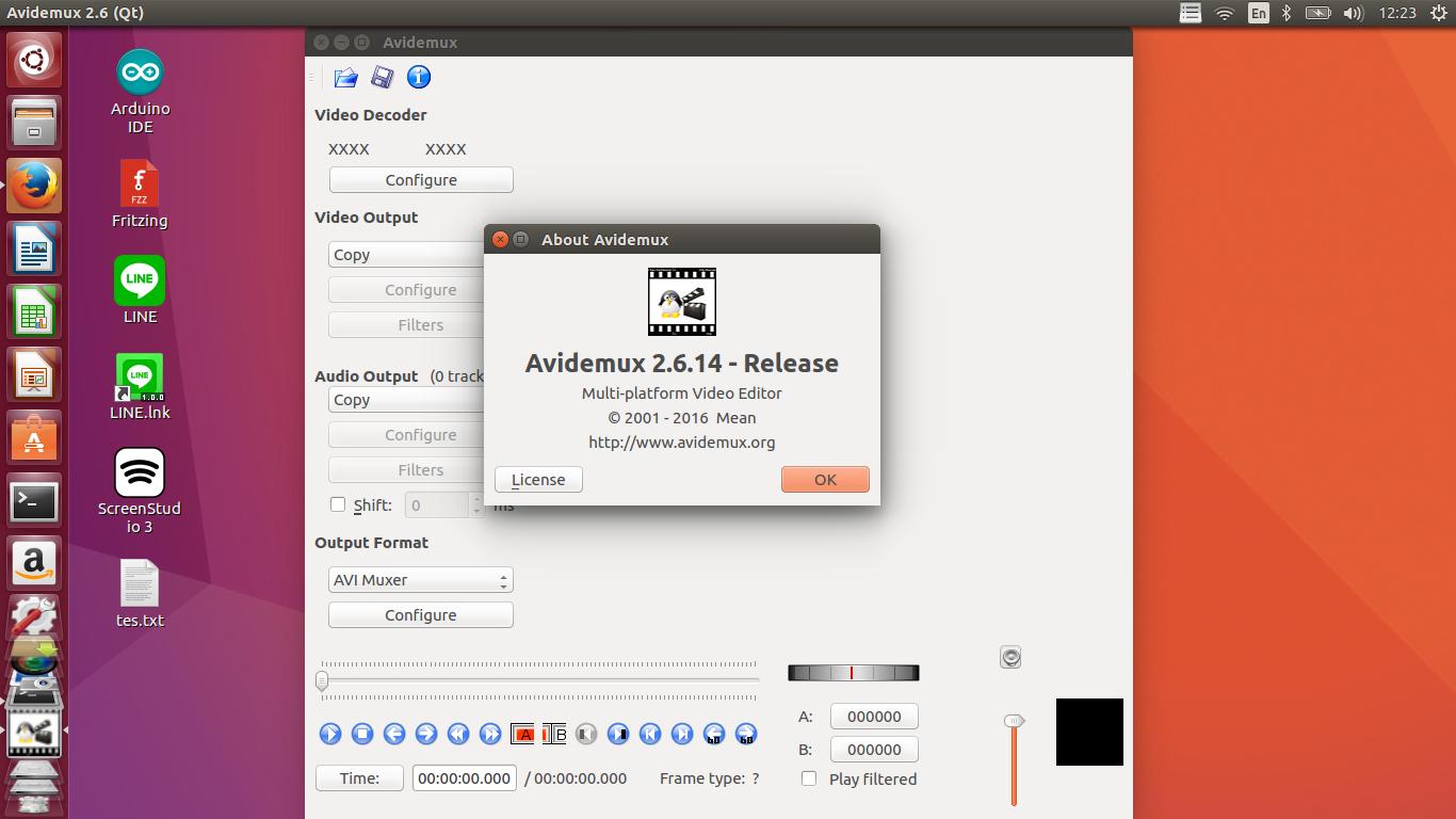 avidemux ubuntu