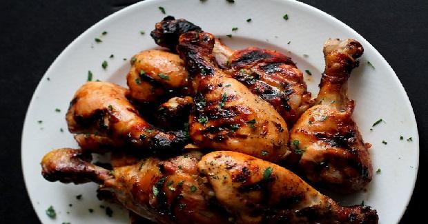 Grilled Maple Dijon & Chili Chicken Drumsticks Recipe