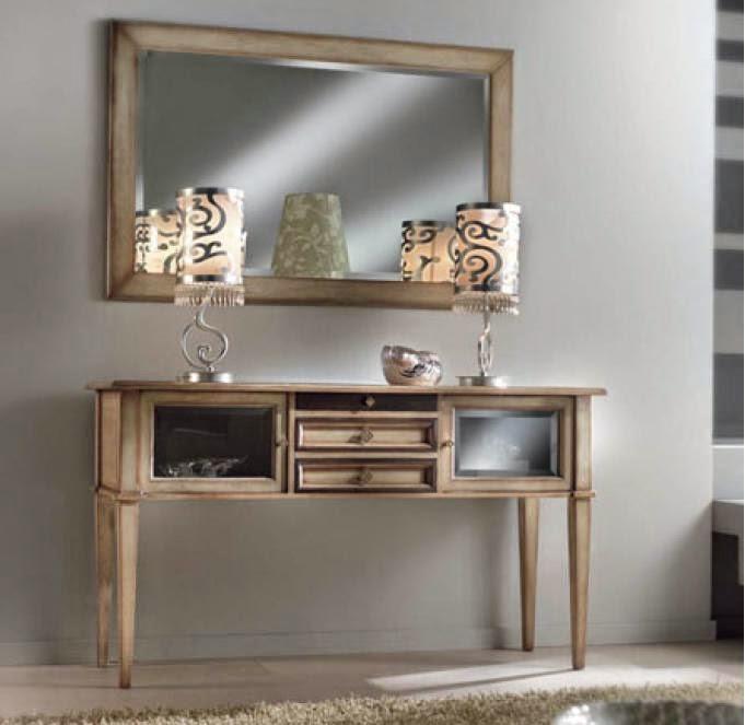 Consolle e specchiera mobile da ingresso con specchio ebay - Consolle con specchio per ingresso ...