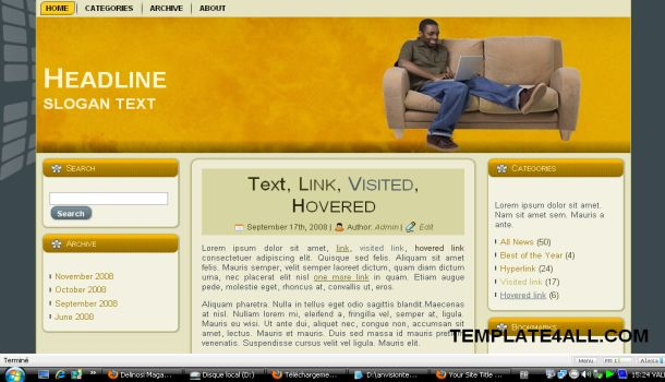 Orange Wordpress Theme Template