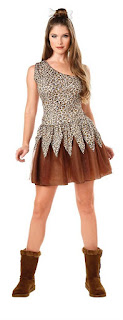 Women's Cave Woman Adult Costume for Halloween