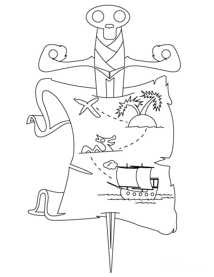 Treasure Hunt Coloring Pages Coloring Pages