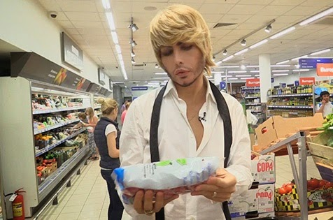 Singer Sergei Zverev purchased in the supermarket Russian products