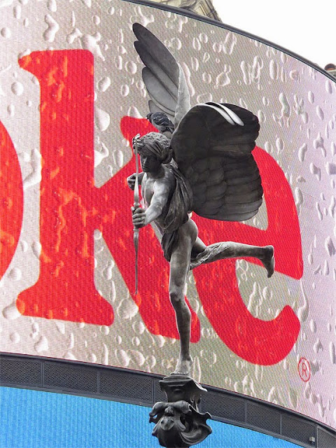 Anteros by Alfred Gilbert, Shaftesbury Memorial Fountain, Piccadilly Circus, City of Westminster, London