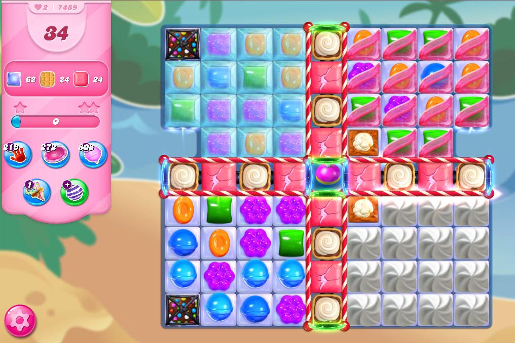 Candy Crush Saga level 7489