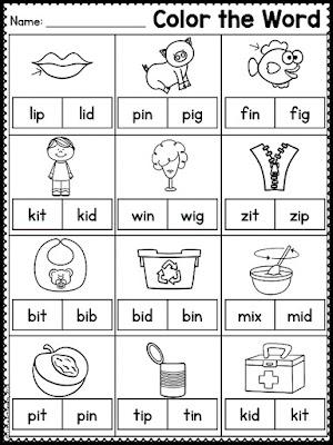 matching rhyming words worksheet