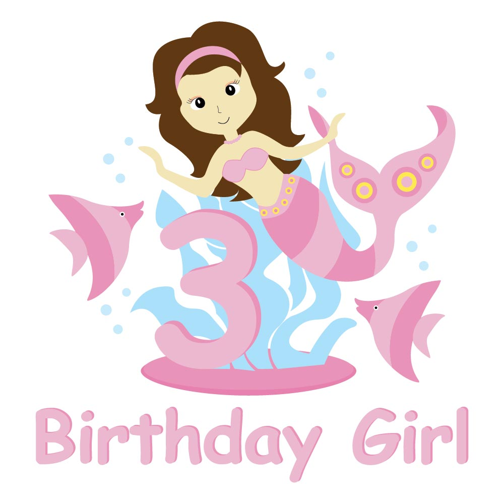 Vectorsharing free download vector cartoon of cute mermaid and you can also print it as birthday card just edit some items on the design and you will make a perfect birthday card for your kid share your happiness with stopboris Gallery